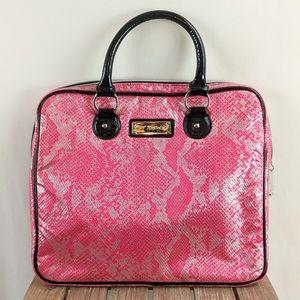 Betsey Johnson Handbag Women's Snake Skin Pink